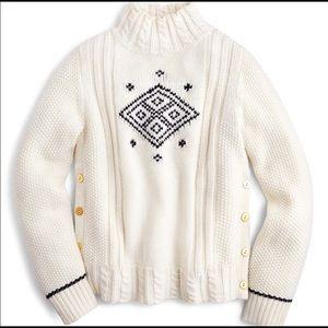 J Crew The Reeds Cream Black Sweater Vintage Ski